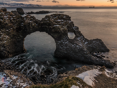 Sonnenaufgang in Arnarstapi