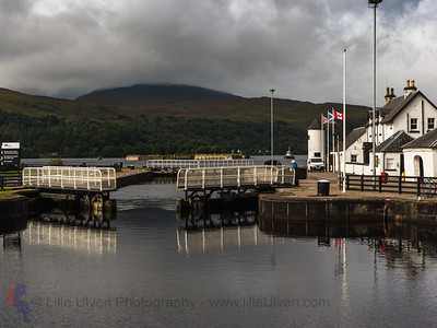 Die letzte Schleuse im Caledonian Canal