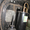 29-49X - Right hand Drive: Conduit on Firewall +oil can, oil filter and series plate (courtesy Phil Green)