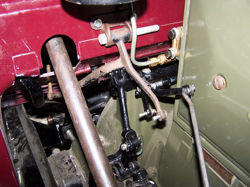 29-44X - Right hand Drive: Right hand side.  Engine compartment bracketry from 44X model (courtesy Vaughn Gunthorpe)