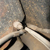 "29-49X - Right hand Drive: Conduit inside right hand frame ""T' ing"" to dash (courtesy Phil Green)"