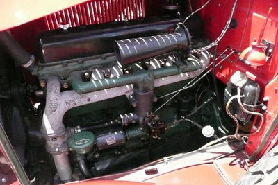 29-24 - Right hand Drive:  Left side (inc. radiator overflow tank on lower right)