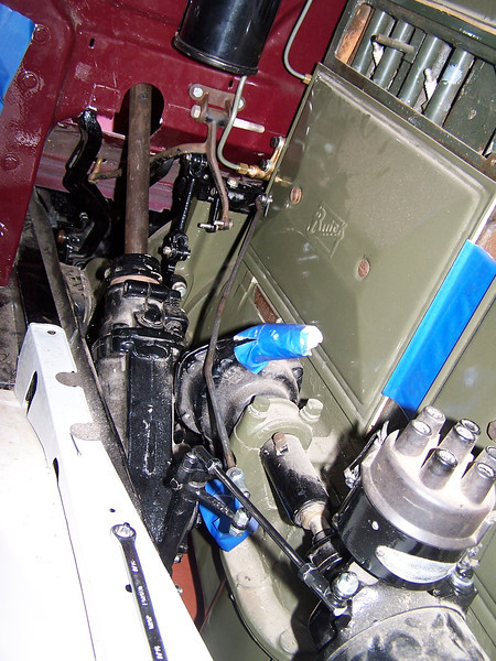 Engine compartment bracketry from 44X model (courtesy Vaughn Gunthorpe)