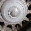 Sidemount hubcap from a Canadian McLaughlin Buick 29-51 artillery wheels and metal sidemount covers