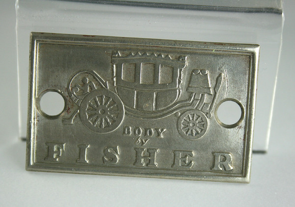 Fisher Body Tag (on Closed cars & 54CC) on bodies made by Fisher