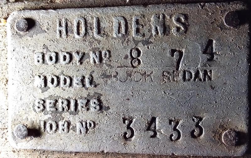 Australian ID Plate from 29-27X