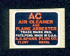 Air filter decal