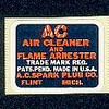 Air filter decal
