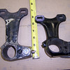 Steering column brackets (closed car is long; open car is short)