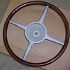 "Steering Wheel - Top (Note:  Wood and bars are painted black).  Master wheel is larger than Standard.  Master is 16&1/8"" inside diam., Standard is 15&1/2""."