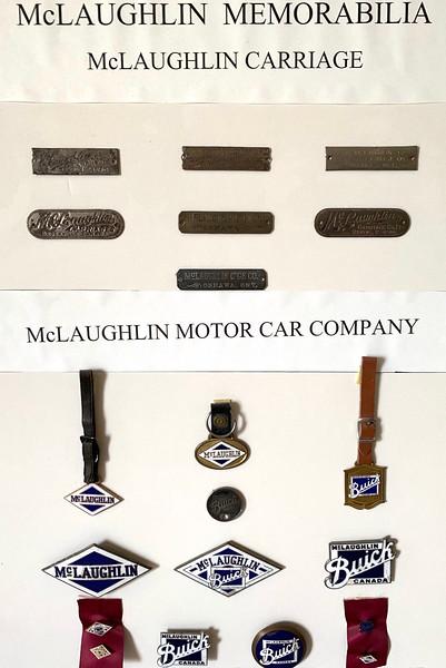 McLaughlin Memorabilia.  From circa 1880 - 1935.