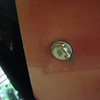 29-44 (roadster) golf club door lock.  Note: cover over key-way