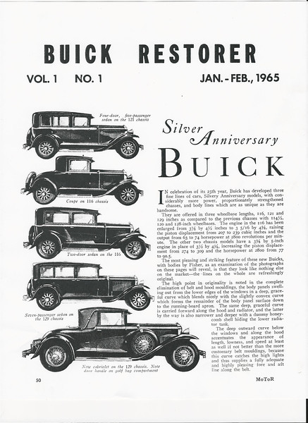 1965 Article on 1929 Buicks (Page 1 of 4)