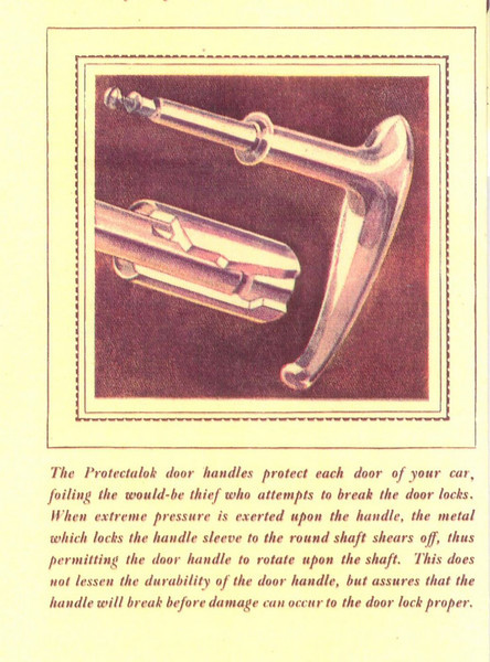 Door Handle Security Feature (Protectalok)- they break before damage can be caused to a lock (from a Fisher body ad)