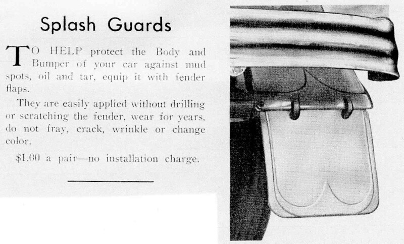 """Noyes (Boston) Buick Dealers """"splash guard"""" option that was offered for '29-32. Never seen an actual example."""