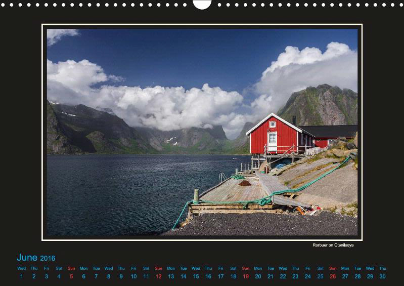 The traditional fishermans home - nowadays mostly used for holiday guests. This photo is taken on Otenilsøya, a part of the Lofoten. This photo is published in Lille Ulven Photography's Lofoten calendars.