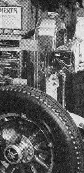 Close-up of ad re San. Francisco Car Show (Jan. 26th - Feb. 2nd, 1929) where the car had the late radiator cap and hubcaps
