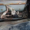"29-25 - unrestored with approx. 25 K miles (sat in a barn from 1939-2006).  Note: likely original, red fan belt and radiator hose plus ""Lock-Roll Buick"" hose clamps."