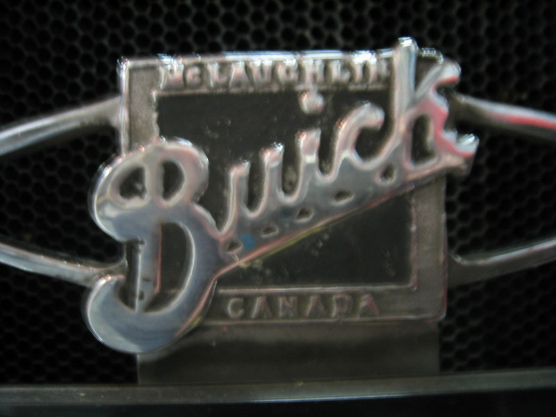 Canadian (McLaughlin / Buick / Canada) bow tie emblem (note:  on Canadian cars it was on light tie bar - not radiator, as in the USA)