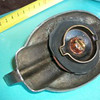 Radiator cap from 29 Buick in France.  Similar lines to the late, Toilet seat cap.