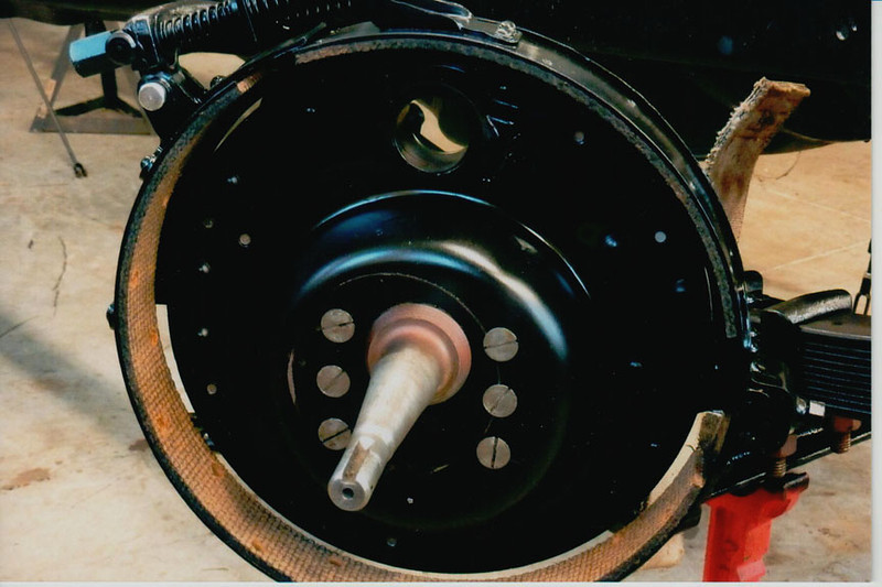 29-50 During Restoration:  Brake parts all replaced