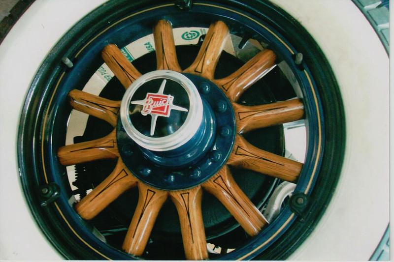 29-50 During Restoration:  Wood wheels refinished