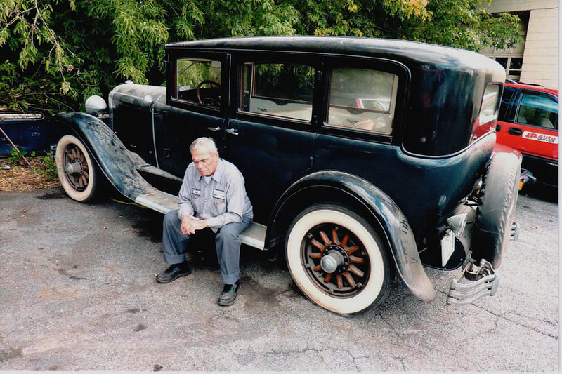 29-50 Pre-Restoration:  Former owner saying goodbye to his car after 40 years