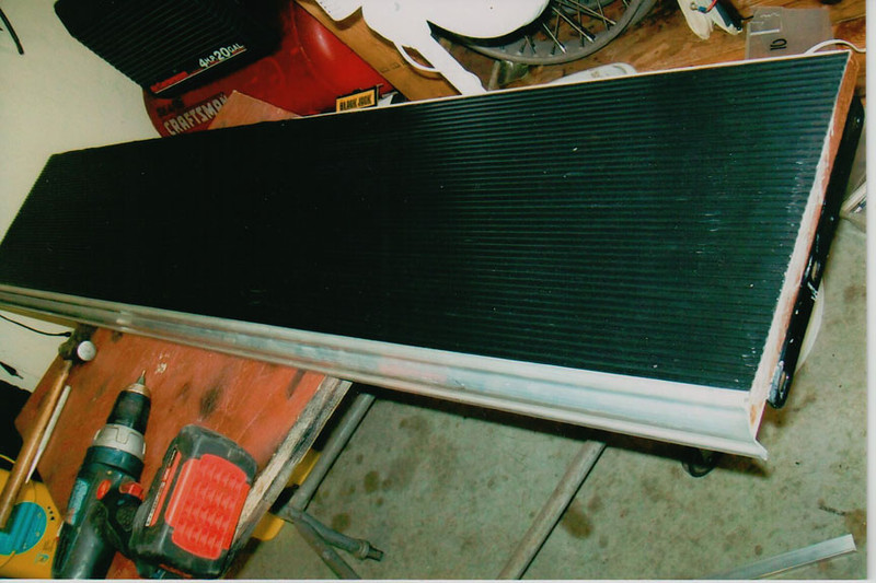 29-50 During Restoration: Finished Running boards, new tread and aluminum trim