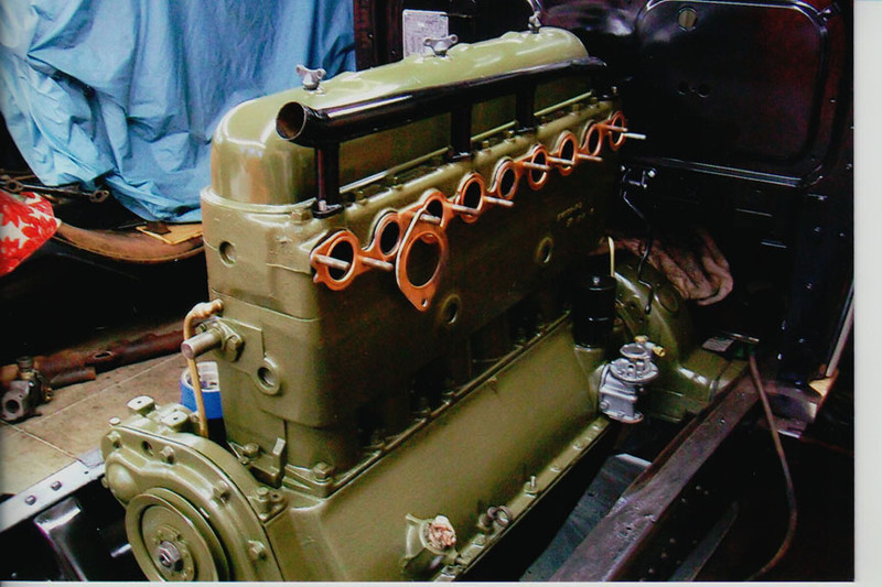 29-50 During Restoration:  Engine painted