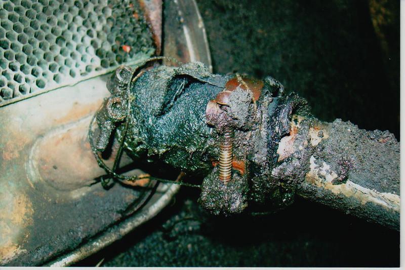 29-50 Pre-Restoration:  Radiator plugged