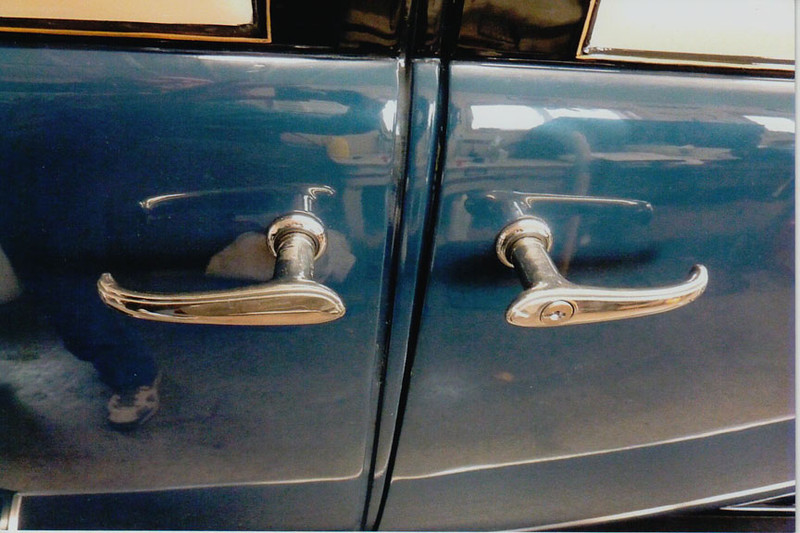 29-50 During Restoration:  New Stainless steel door handles replaced the old Pot-metal