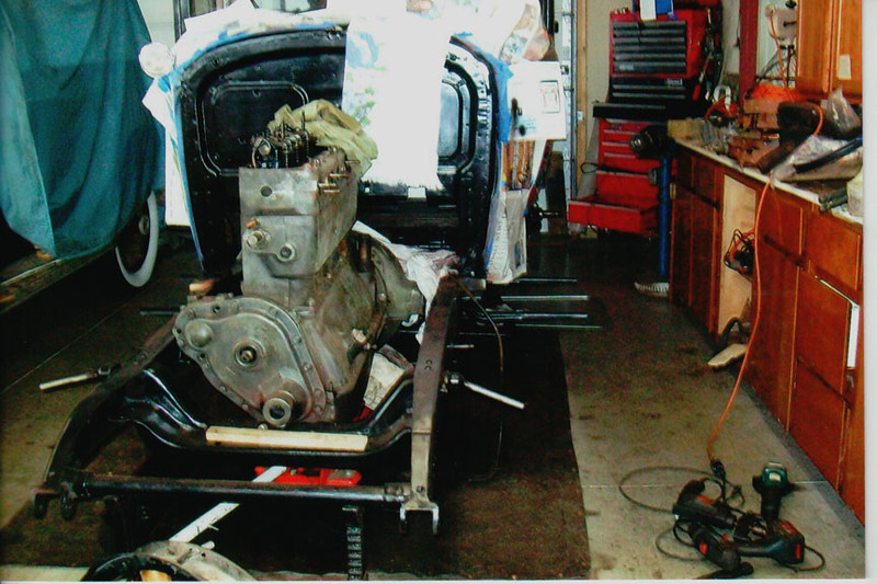 29-50 During Restoration:  Engine stripped