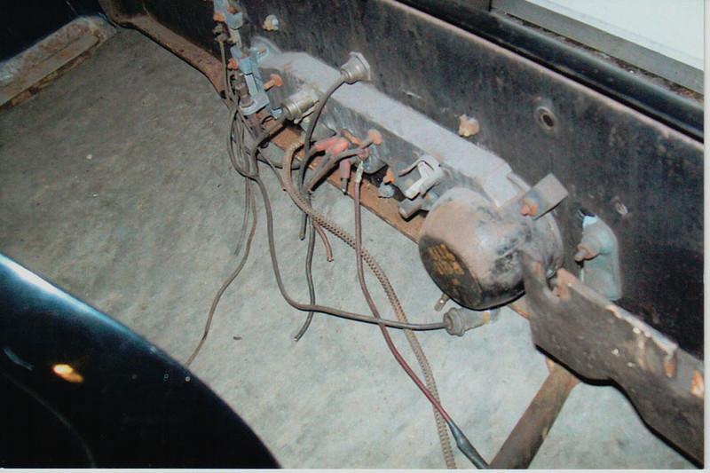29-50 Pre-Restoration:  Dash gauges rusted