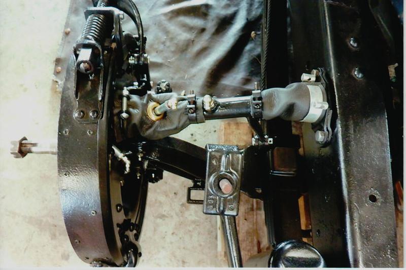 29-50 During Restoration:  Brake drums refurbished