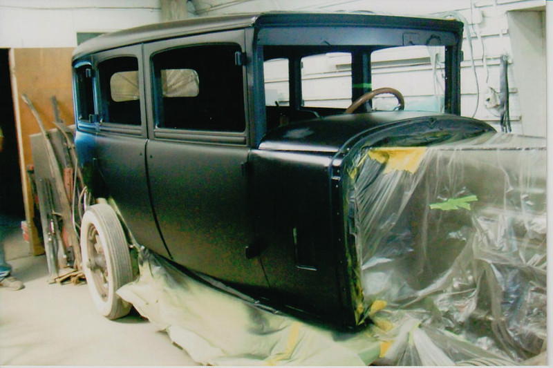 29-50 During Restoration:  Body primed with Epoxy primer