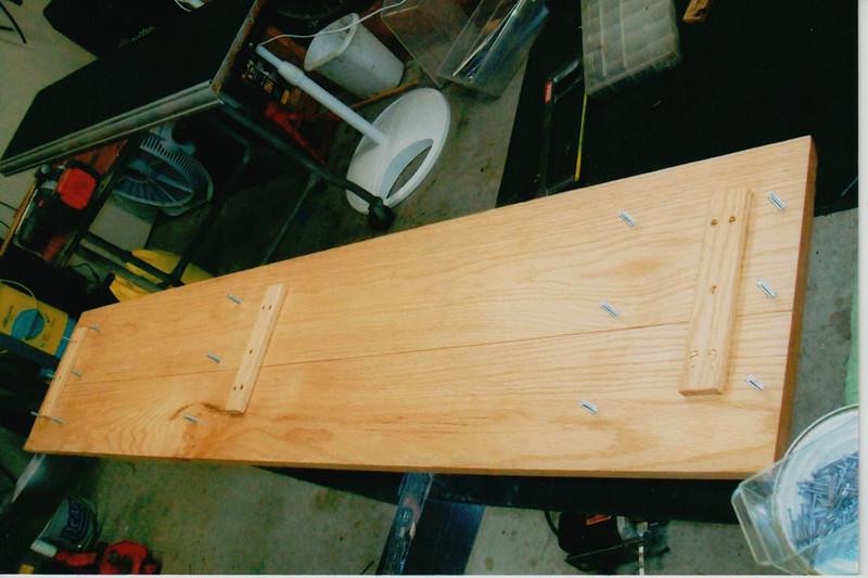 29-50 During Restoration:  New oak Running boards