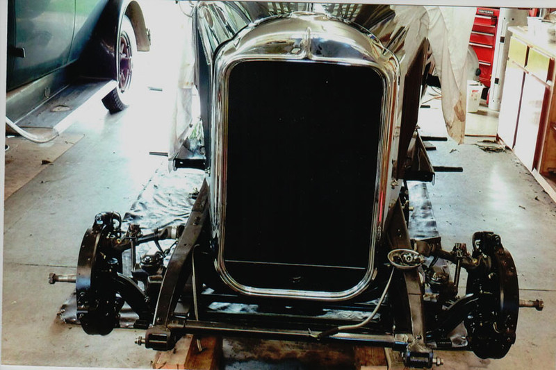 29-50 During Restoration:  New radiator and chrome shell complete