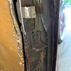 "29-44 Door:  The 4 screwed placer (?) is: 1"" wide x 2&1/4"" long. The placer is 3/4"" wide x 1&1/8"" long."