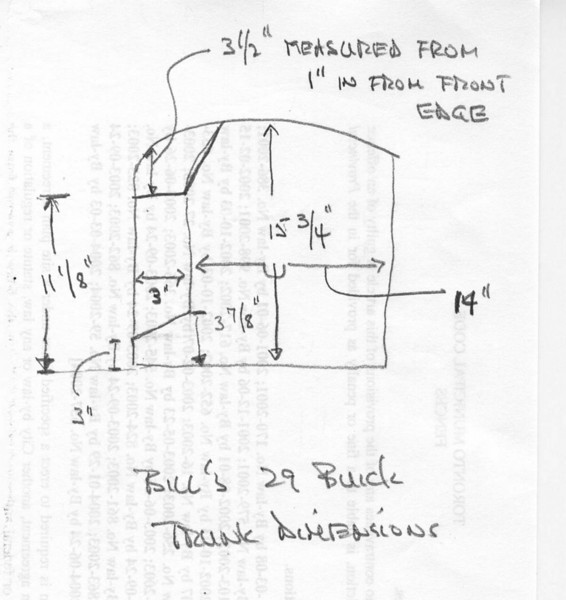 Trunk on 29-44 - Measurements