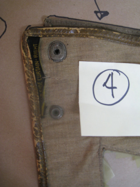 29-44 - Side Curtains:  right side rear, from inside (top left).