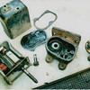 29-50 Wiper motor, apart - pre-restoration