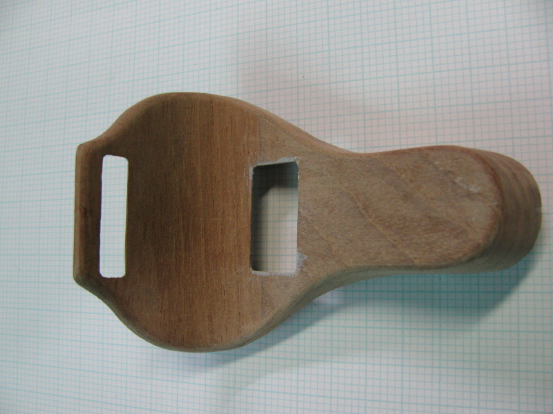 Top Hold Down Bracket Wood Pattern for  Model 29-49X Touring (courtesy of Phil Green)
