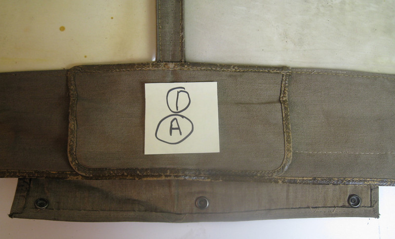 29-44 - Side Curtains:  left side, front from outside.  Note: hand signal flap - closed and inside flap pulled down