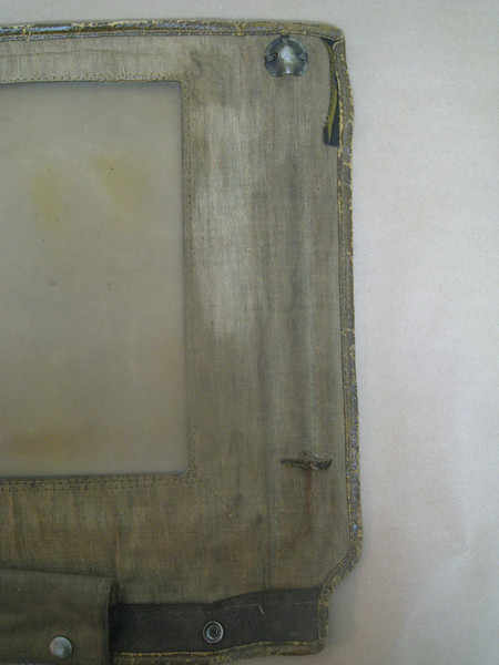29-44 - Side Curtains:  right side, front from inside (right 1/2).  Note:  slit near bottom for support rod.