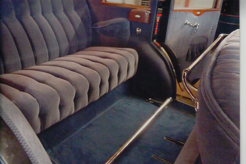 29-50 Restoration:	Interior Po-tmetal foot rest, window handles and robe rail replaced with stainless