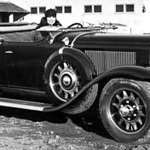 Roadster #3 (Factory Publicity Shot ?) with wind-wings (no reference found for factory wind-wing accessory)