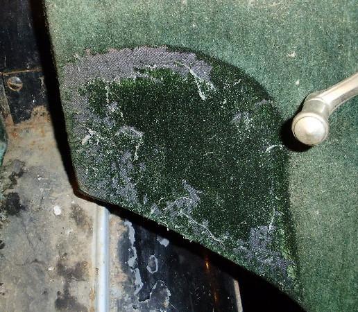 29-51 - McLaughlin Buick - original green mohair upholstery.  (Note original, unfaded dark green colour.)