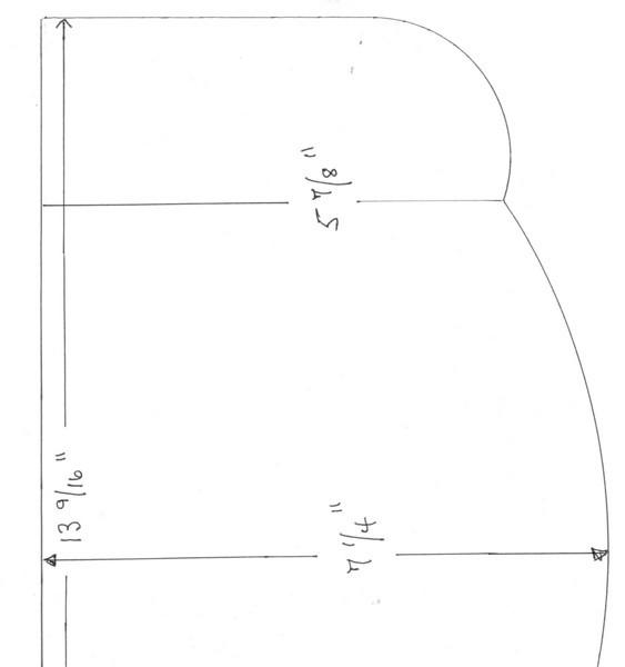 29-44 Passenger side flap stiffener - right side pattern