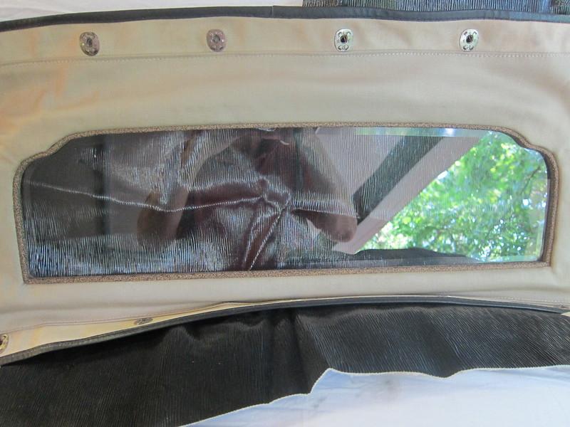 Roadster rear window - inside