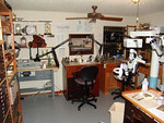 Steve's shop.  Actually, it is a little more crowded now with the recent addition of more work benches and microscopes.